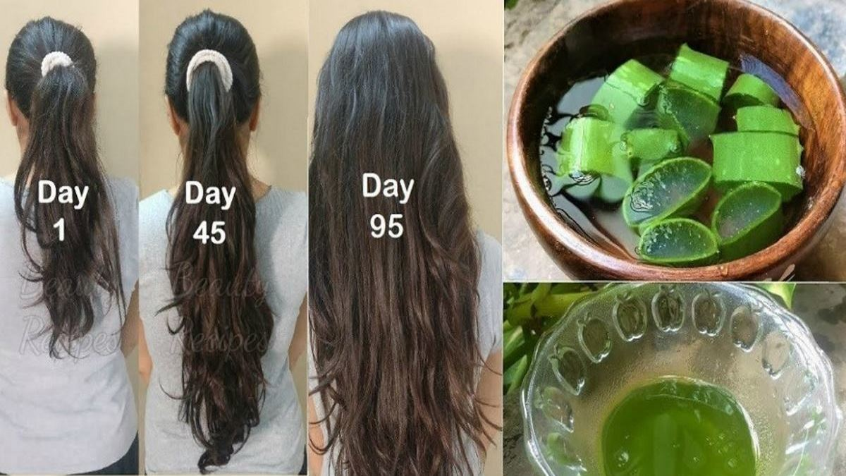 She Rubs Aloe Vera on her Hair, The Effect Will Shock You